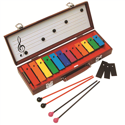 BASIC BEAT 12-NOTE GLOCKENSPIEL W/ CASE