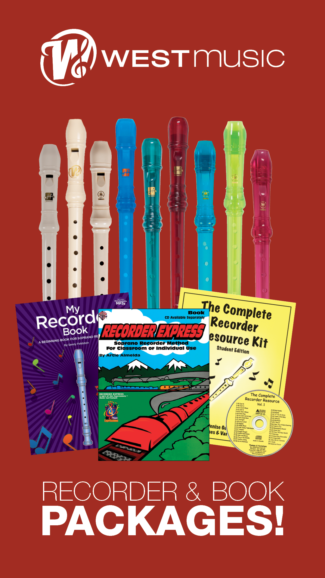 Recorder Instrument and Book Packages
